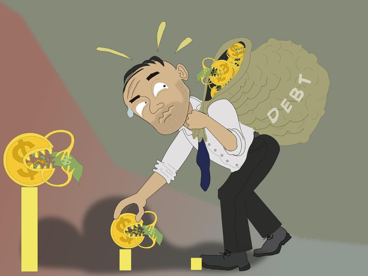 借金を背負う人