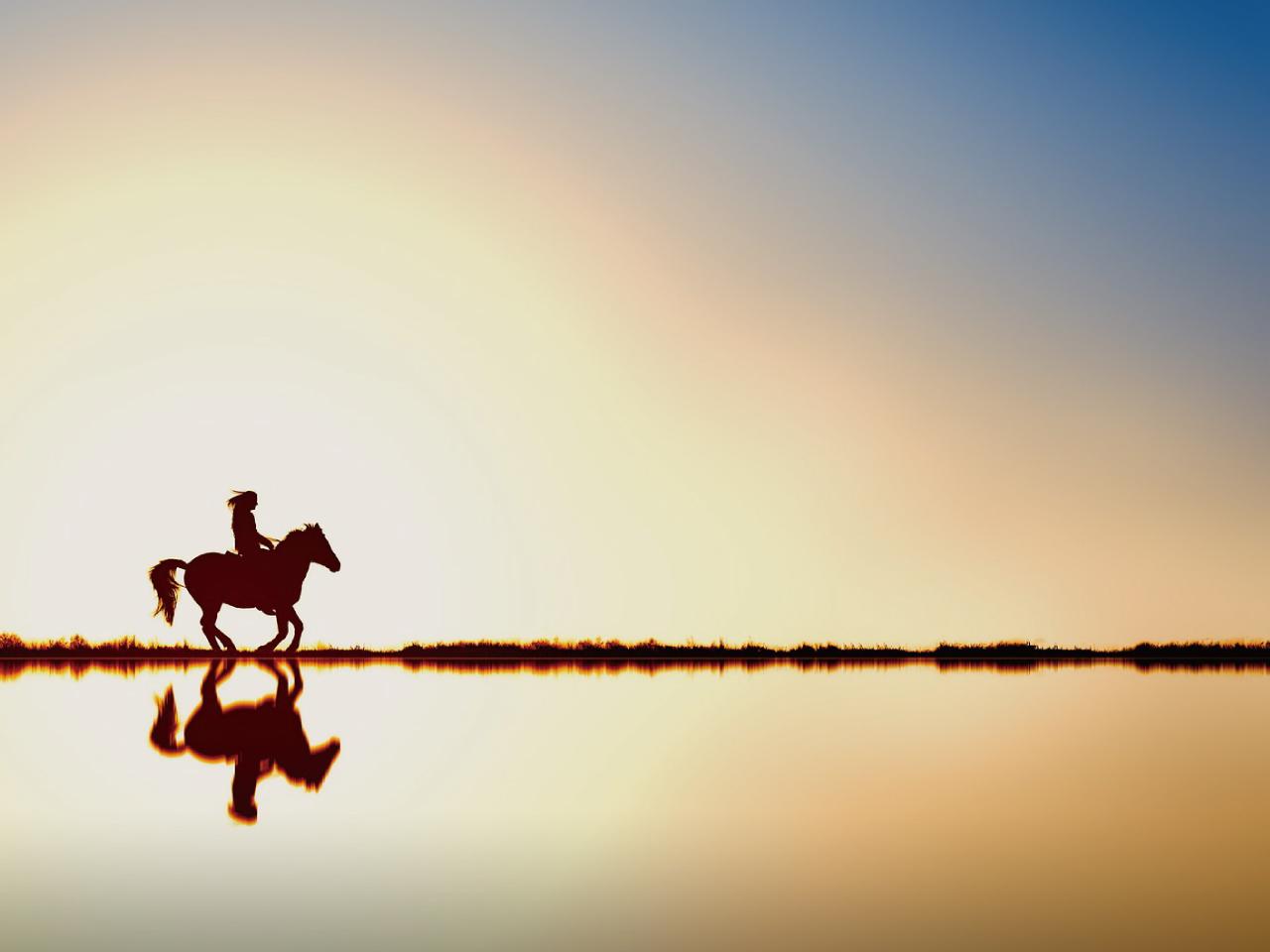 馬に乗る人